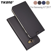 TIKONO For Samsung A7 2017 Case Luxury Flip Cover Wallet Leather Case For Samsung Galaxy A7