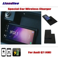 Liandlee For Audi Q7 (4M) 2016~2018 Special hidden Car Wireless Charger Storage For IPhone Android Iphone Battery Charger