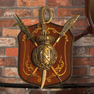 Armure ornement KTV bar mur cintre médiéval bouclier mural 23*18 cm Antique bouclier et épée mur bar statue décoration