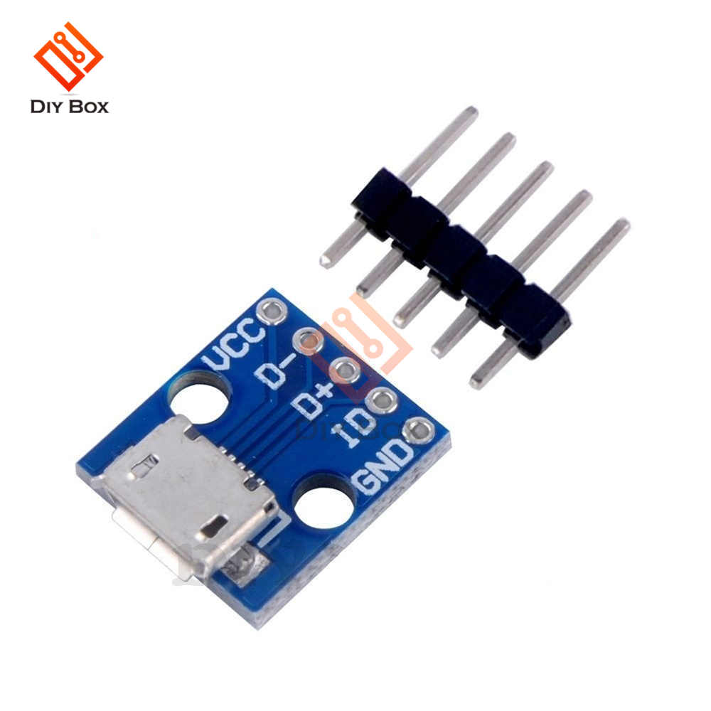 5PCS CJMCU <font><b>Micro</b></font> <font><b>USB</b></font> Board Power <font><b>Adapter</b></font> <font><b>5V</b></font> Power Supply <font><b>Adapter</b></font> Breakout Board Power Charger Charging Module for Arduino image