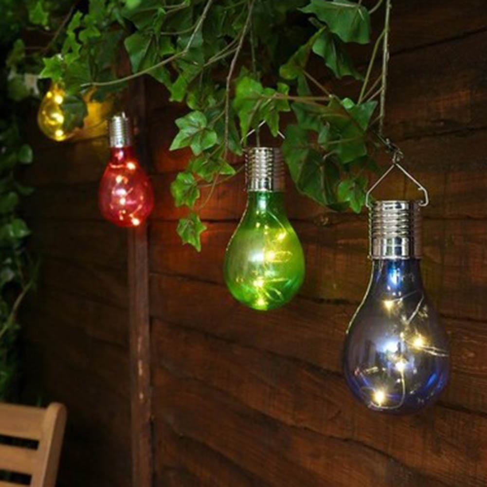 Solar Copper Wire Light Colorful Bulb Sunlight for Garden Home Decoration Holiday Festival Party wedding Lighting