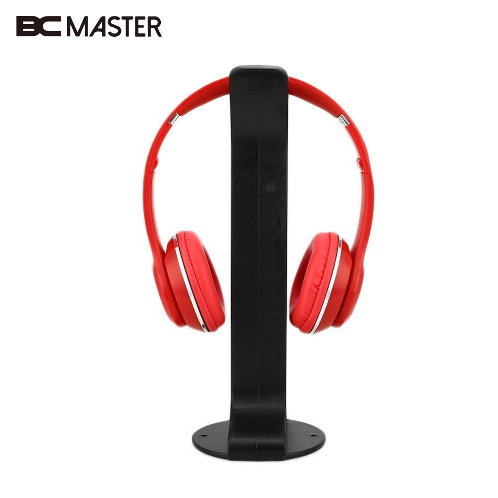 BCMaster Universal For Over-Ear Gaming Headphone Holder Hanger Headset Desk Stand Earphone Display Rack Bracket White/Black