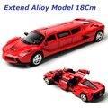 Расширенный Сплава модели Автомобиля, 18 см, Литой Игрушки Автомобиля, соотношение 1:36, 4 открытых дверей, назад фары,