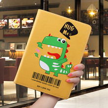 Cartoon Case For ipad Mini 4 8.0 inch lovely Dinosaur pattern Folding Folio Stand protective Cover For ipad Mini 4 Smart Case недорого