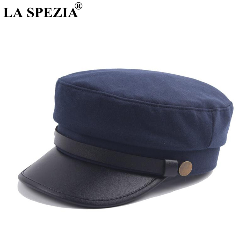 f7579ffa LA SPEZIA Vintage Newsboy Cap Men Navy Blue Retro Women baker boy caps  Casual Spring British Classic Female Gatsby Flat Hats