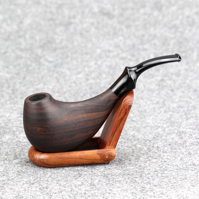 New Handmade Tobacco Pipe 9mm Filter Smoking Pipe Dolphin Design Wooden Pipe Best Ebony Wood Pipe & New Handmade Tobacco Pipe 9mm Filter Smoking Pipe Dolphin Design ...