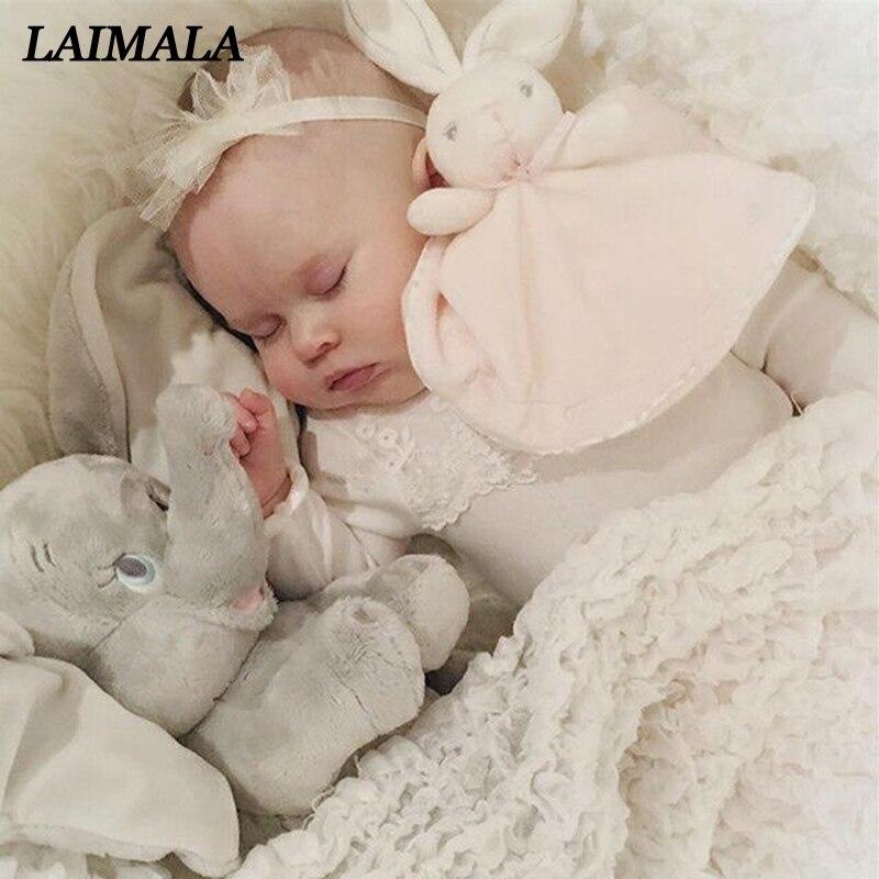 Newborn Baby Bunny Soothing Towel Girls Boys Comfort Toys Infant Gift Soft Security Blanket Sleep Friend Rabbit Doll Plush Toys