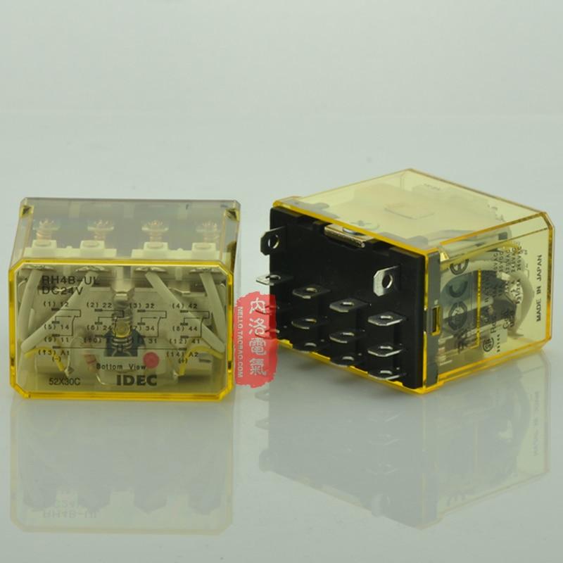 цена на [SA]Japan and the spring IDEC power relay indicator type 10A RH4B-UL DC24 DC24V 4a4b--5pcs/lot