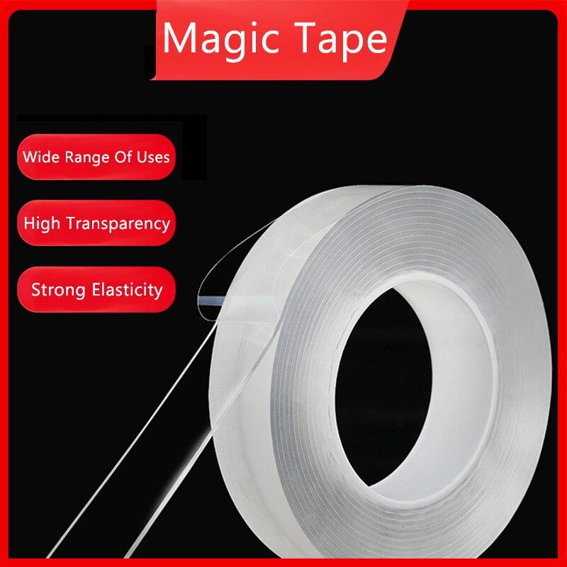 Обустройство дома двусторонний скотч Nano прозрачной никаких следов акрил Magic Tape повторного использования Водонепроницаемый клейкая лента 3M...