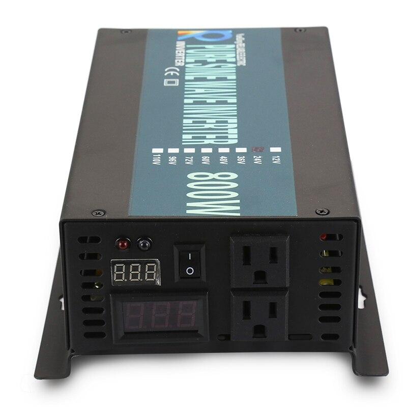 800W Solar Inverter 24V 220V Reine Sinus Welle Inverter Netzteil Transformator 12 V/48 V DC zu 120 V/230 V/240 V AC Spannung Konverter