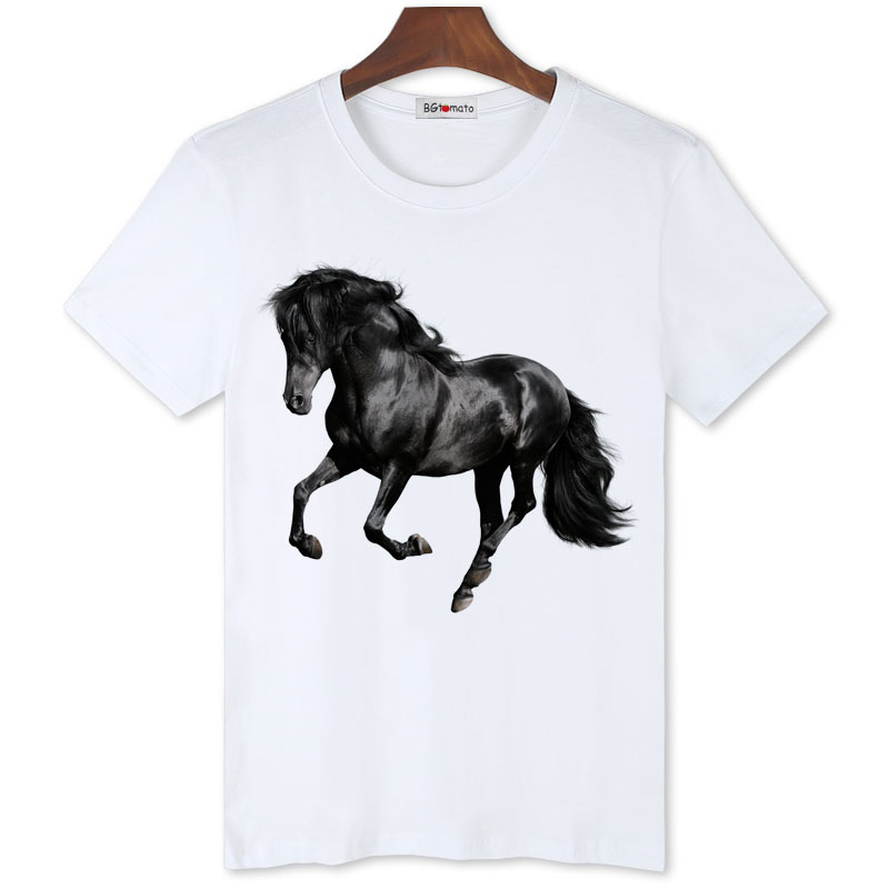 Bgtomato good luck black horse cool t shirt men new trends for Successful t shirt brands