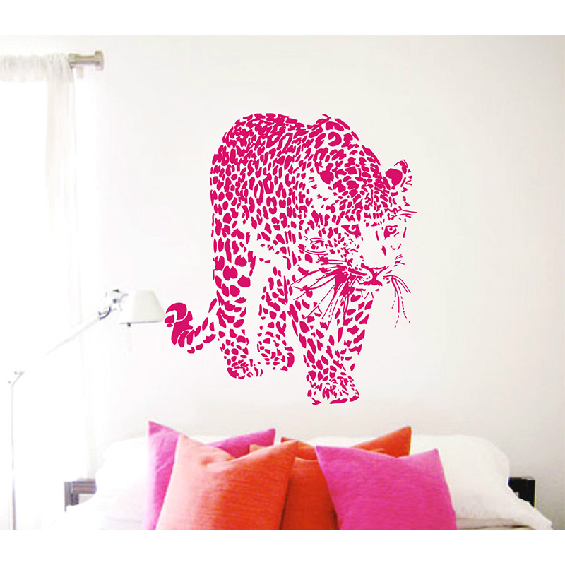 POOMOO Decals,New design Vinyl Wall Stickers Leopard Panther Home ...