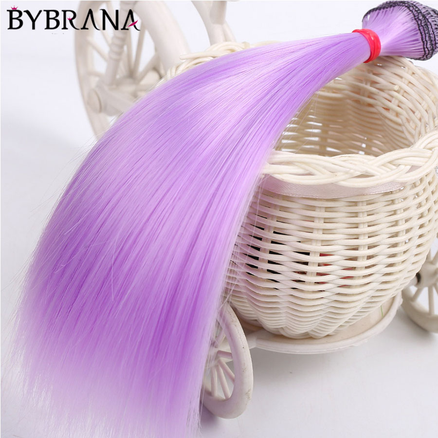 Bybrana 1pcs 25*100cm And 15*100cm BJD Hair Black Gold Brown White Color Long Straight Dolls Wig For 1/3 1/4 1/6 BJD DIY