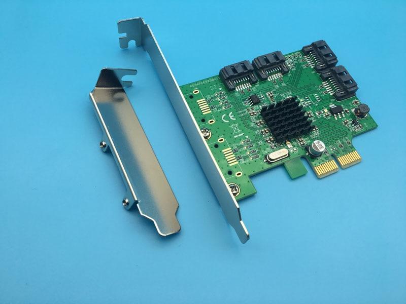 4 Port SATA 3.0 Raid Card SATA3 PCI-Express Host Controller 6Gbps Support RAID 0 1 10 9590se 16ml pci express x4 sata ii 3 0gb s controller card original 95