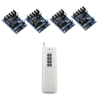 Long Range DC 12V 24V 36V 48V 1 CH RF Wireless Remote Control 4 Receivers And