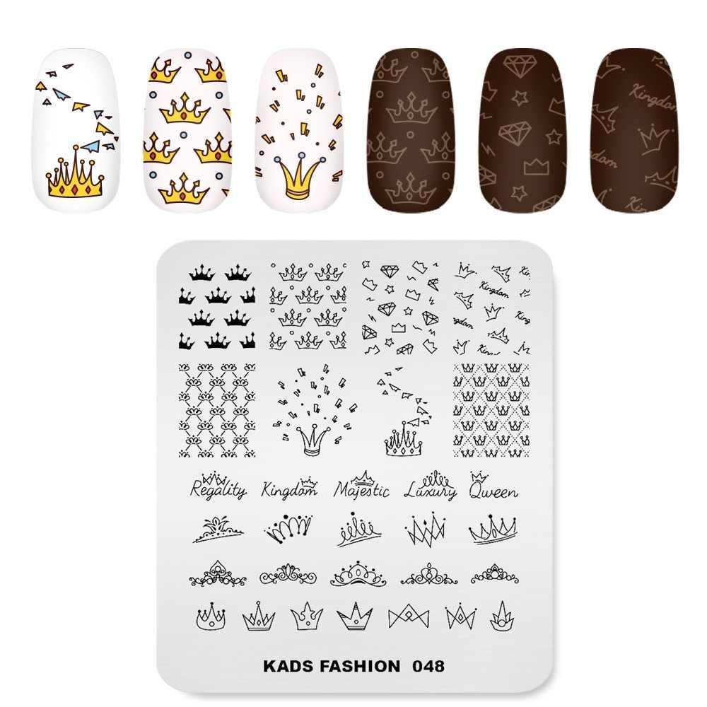 Arieslibra Kuku Stamping Piring Fashion Seri Paku Seni Cap Kuku Desain Crown Gambar Piring Stensil untuk Kuku Alat