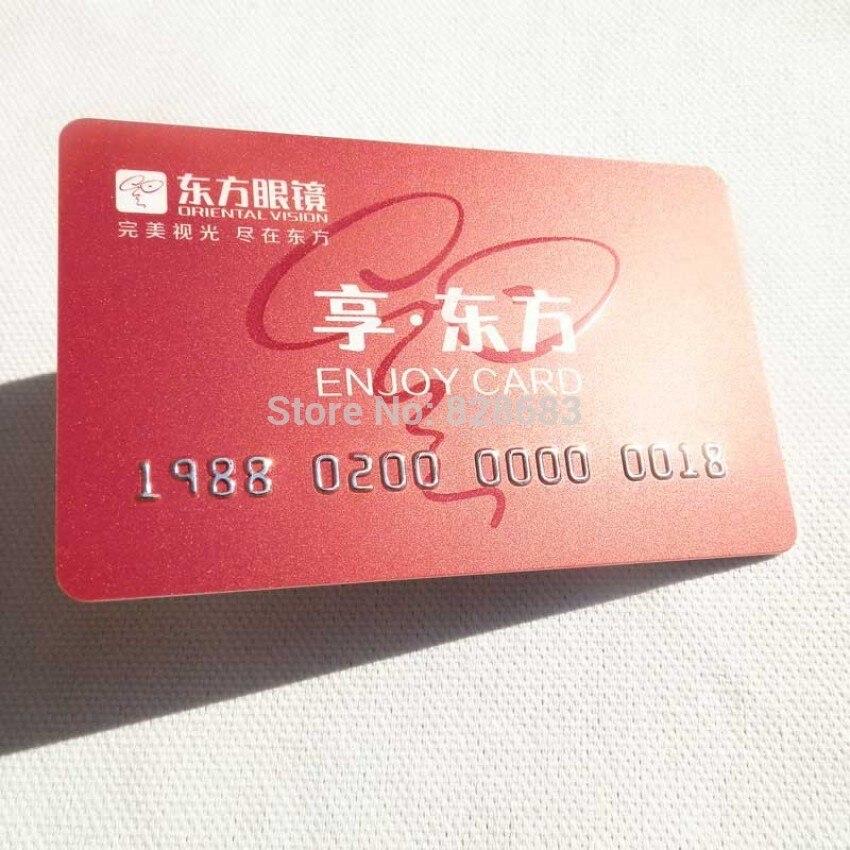 Aliexpress.com : Buy Plastic Embossed Loyalty Card 500 Pcs