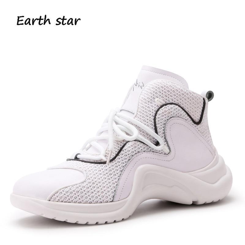 Negro Marca Blancos atado blanco Calzado Star Chaussure Zapatos Casual Transpirable Zapatillas Negro Cruz Señora Plataforma Earth Mujer Otoño qZtXxP
