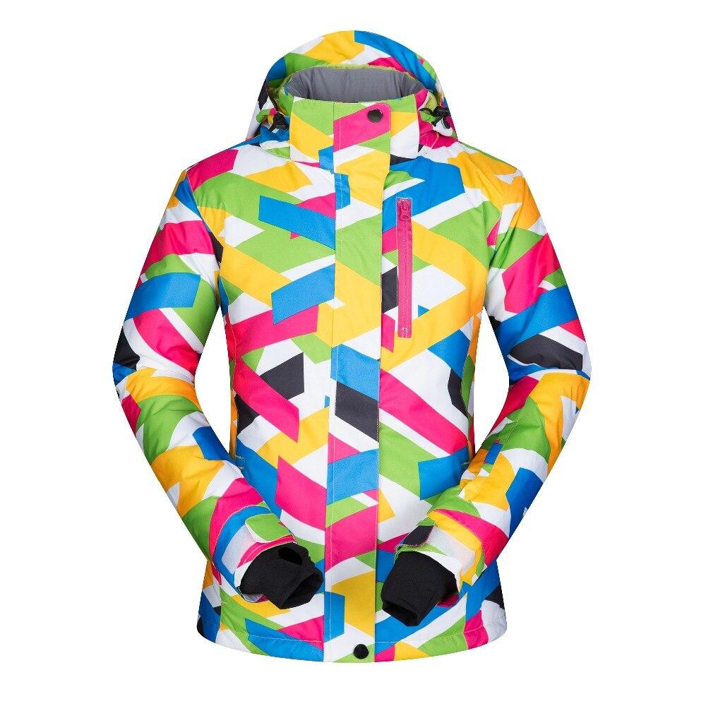 Prix pour 2017 Haute Qualité Femmes Ski Vestes Coupe-Vent Imperméable Respirant Vêtements Épaissir Thermique Manteau Femelle Snowboard Neige Marques