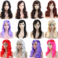 10 Colors Women's POP Party Wig 48cm 50cm Long Straight Synthetic Full Wigs Beautiful Cosplay Anime Fancy Dress Shiny Feel