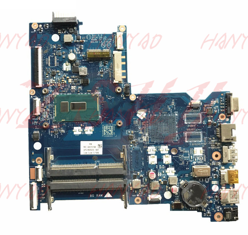 858583 601 For HP 15 AC 250 G2 Laptop Motherboard BDL50 LA D703P With i3 CPU MainBoard in Laptop Motherboard from Computer Office