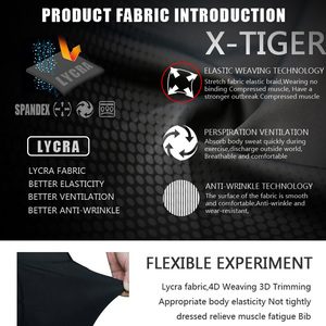 Image 4 - X TIGER 8 Colors Cycling Bib Shorts Summer Coolmax 5D Gel Pad Bike Tights MTB Ropa Ciclismo Moisture Wicking Bicycle Pants
