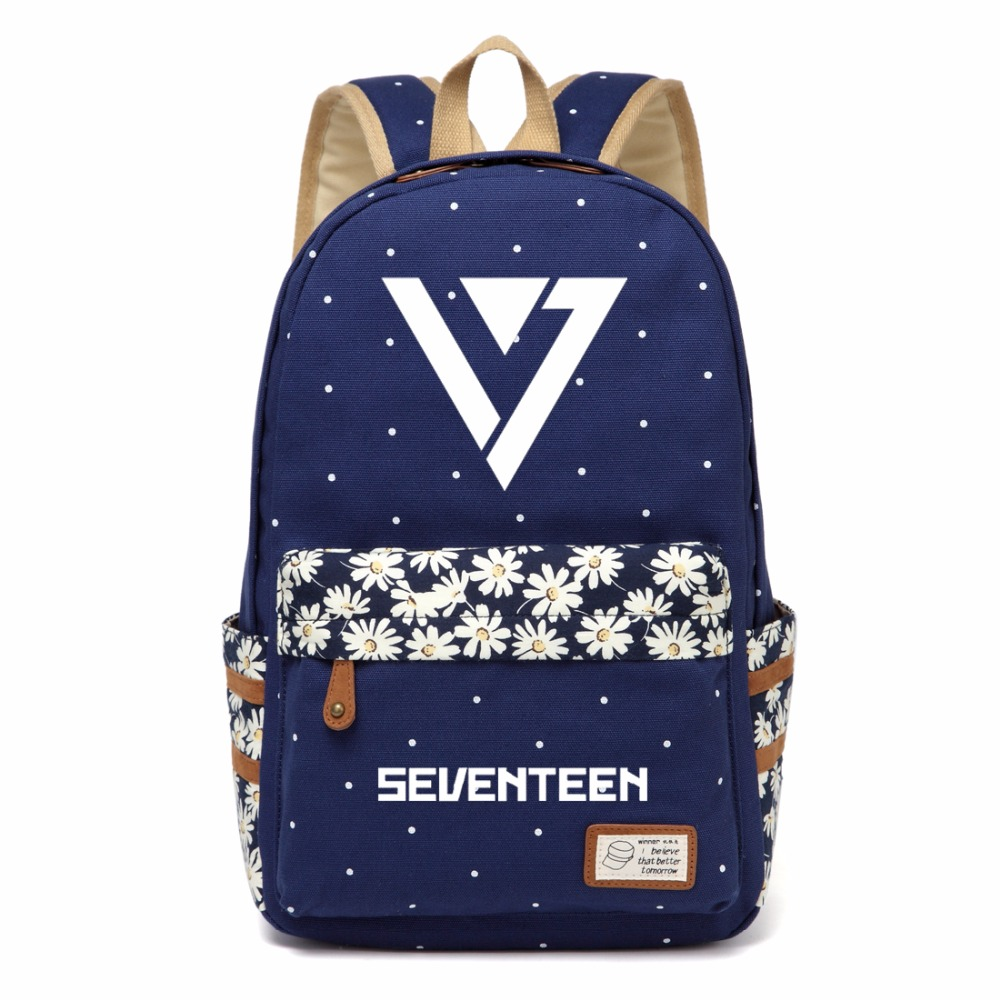 Backpacks Men's Bags Wishot Seventeen 17 Backpack Canvas Bag Schoolbag Travel Shoulder Bag Rucksacks For Women Girls