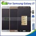 Para samsung galaxy j7 j700 j700f j700m j700h alta qualidade screen display lcd de toque digitador assembléia preto ouro branco + ferramentas