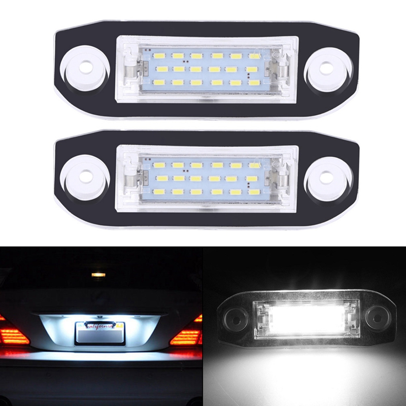 SITAILE 2pcs 18 LED Car License Plate Light for Volvo S80 XC90 S40 V60 XC60 S60 C70 V50 XC70 V70 Car-Styling Number Lamp hopstyling 2pcs direct fit white 18 smd car led license plate light lamp for nissan teana j31 j32 maxima cefiro number light