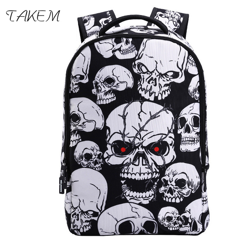 TAKEM 2018 NEW Shantou Super Cool Backpack School Bag fashion Backbag Mens Travel Bag Backpack high quality