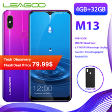 LEAGOO M13 Smartphone Android 9.0 6.1 ''HD IPS affichage goutte d'eau 4 GB RAM 32 GB ROM MT6761 3000 mAh double cames 4G téléphone portable(China)
