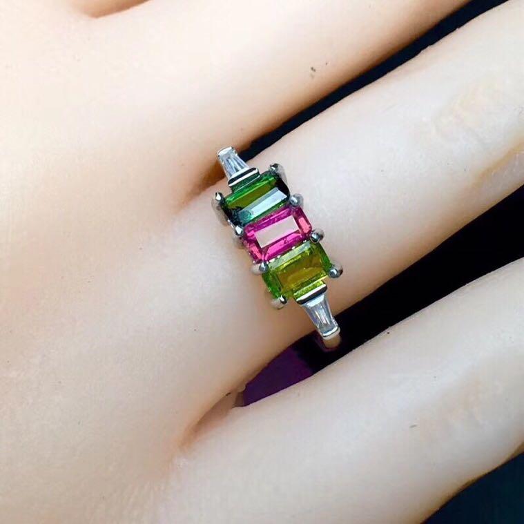 Tourmaline ring Natural real tourmaline 3*5mm*3pcs gemstone Per jewelry 925 sterling silver txc 3225 3 2x2 5mm 11 0592m 11 0592mhz