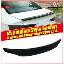 цена на Car Styling For Audi A5 A5Q 4 Door rear spoiler Belgium Style FRP Unpainted Rear Boot Trunk Wing Lip Spoiler Decoration 2009-16