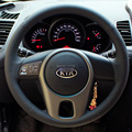 Case for KIA Forte Soul Steering Wheel Leather Cover Genuine Leather DIY Hand-stitched Car-styling Customzied Covers