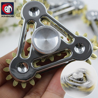 New Gear Tri Spinner Fidget Spinner Steel Hand Spinner R188 Hybrid Bearing Educational Toys Spinner Hand