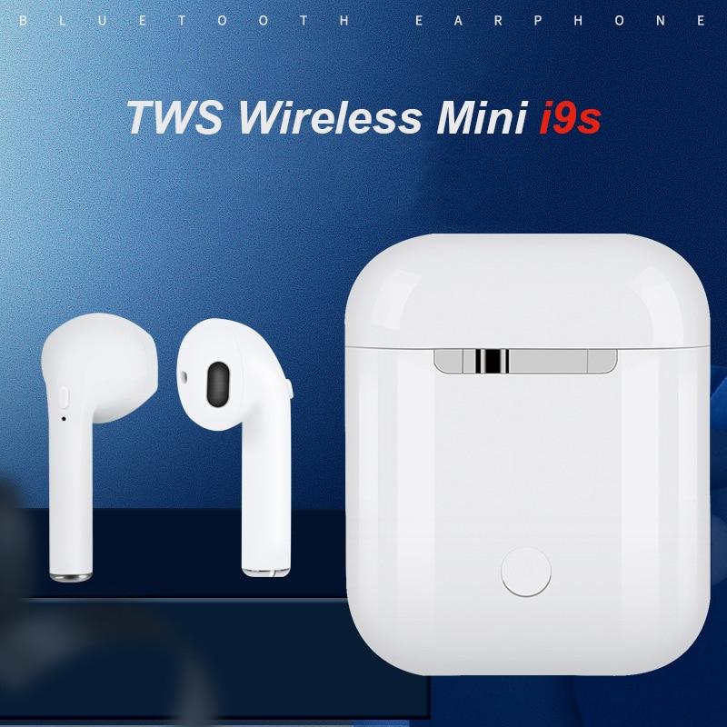 SWZYOR I9S TWS Mini Auricolare Bluetooth Senza Fili Stereo Auricolari Auricolare Con Box Di Ricarica Microfono Per Tutto Il telefono Intelligente