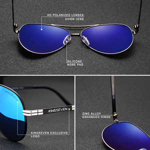 Image 3 - نظارات شمسية KINGSEVEN طراز 2019 مستقطبة بإطار من سبيكة الطيران بتصميم جديد للرجال طراز UV400