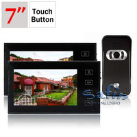 2T1 7inch video Door phone System 2monitor + 1 camera intercom DP 766