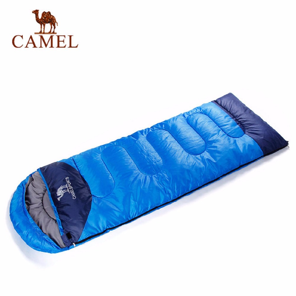 CAMEL 220*75CM Envelope Sleeping Bag Adult Camping Hiking Outdoor Keep Warm Three Seasons Splicing Double Travel Sleeping Bag couple double sleeping bag with pillows lightweight outdoor camping tour portable adult lover warm sleeping bag for 3 seasons