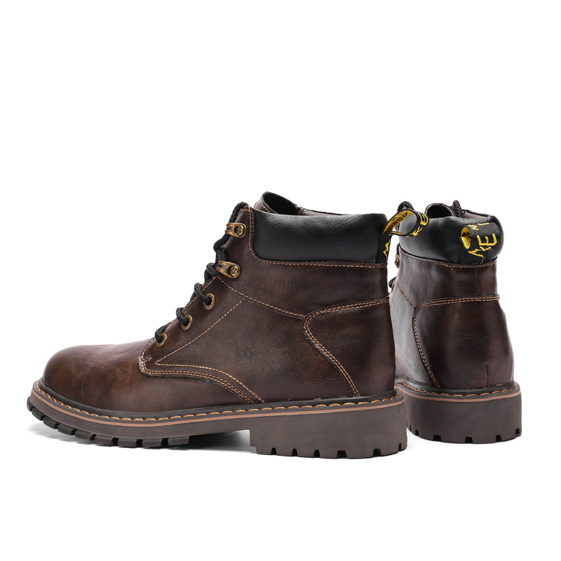 Dr Bottes brown Hiver Fourrées Hombre Décontracté Lacets Véritable Botas Bottines Fur black D'hiver Homme De Martins Cuir gray Fur Hommes Chaussures gray brown Black À Fur wFxC5qO1O