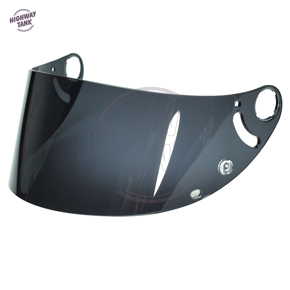 1 Pcs Dark Smoke Motorcycle Full Face Helmet Visor Lens Case for SHARK RS2 RSR 2