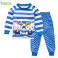 hello Kitty Cotton Girl long clothing Set full Sleeve Shirt Suit Top+leggings Clothes Outfit Set Toddler Kid Baby summer Clothes