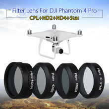 TOMLOV Camera ND2+ND4+CPL+6X Star Filter Lens For DJI Phantom 4 Pro RC Drone Helicopter Quadcopter Spare Parts