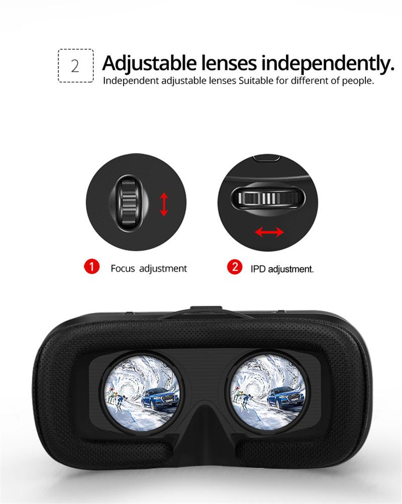 Original VR shinecon 6.0 headset version virtual reality glasses 3D glasses headset helmets smart phones Full package+GamePad 23