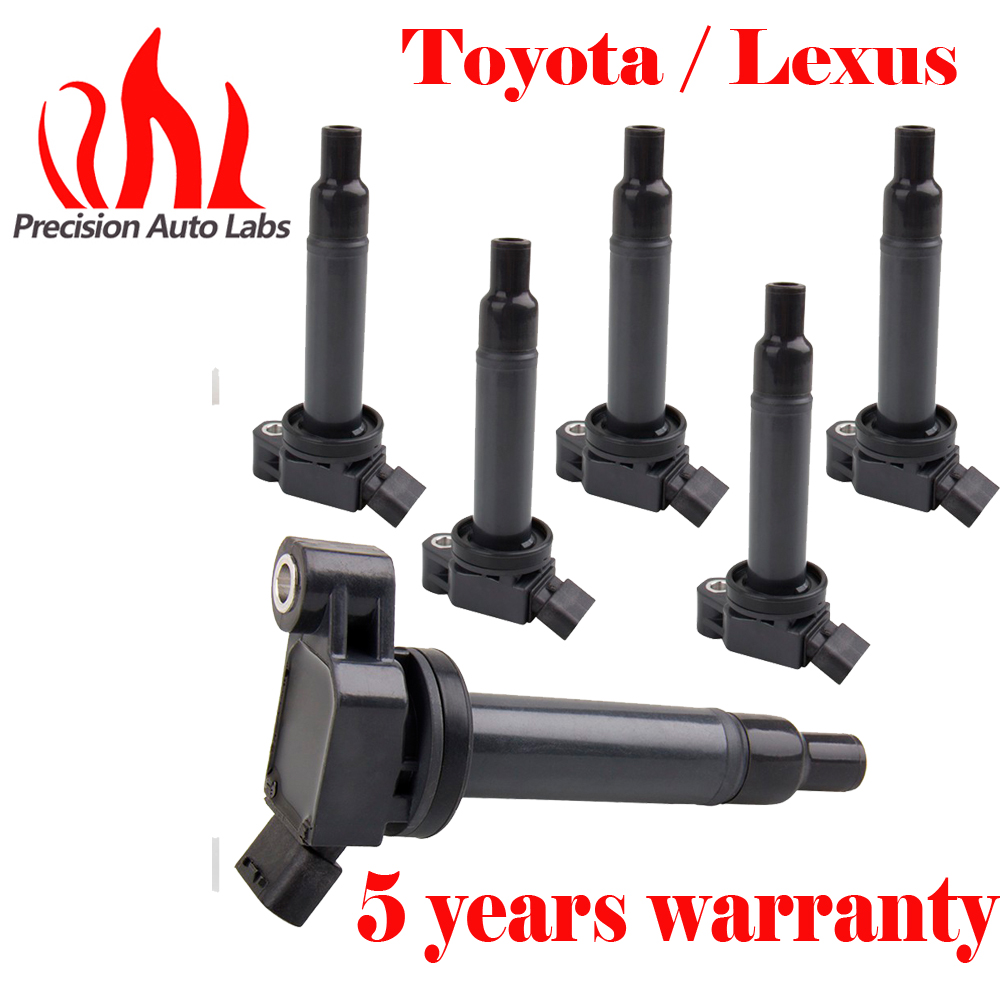 цена на PRECISION AUTO LABS Pack of 6 Ignition Coil Coils For Toyota Camry Avalon Lexus ES300 RX300 UF267