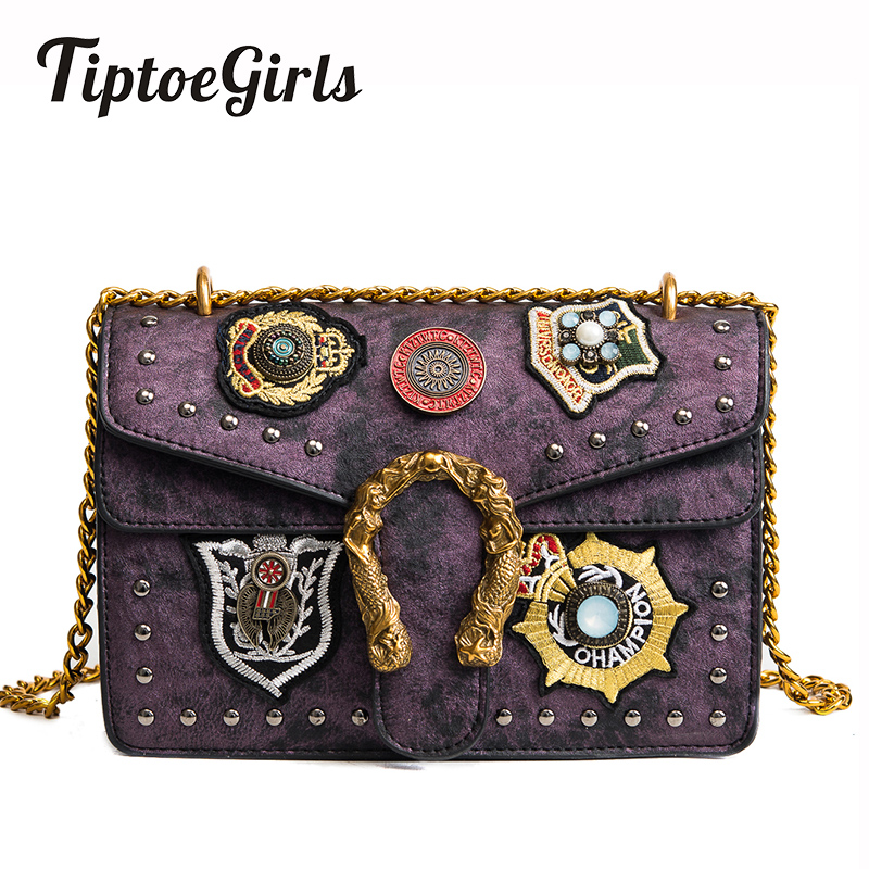 2018 New Handbags Europe and the United States Fashion Rivets Small Square Bag Vintage Shoulder Messenger Bag Personalized Tide europe and the united states fashion leather handbags 2017 new retro hit color decals leather small square bag shoulder bag