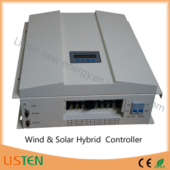 High voltage max 360vdc wind turine 120V battery 2KW Boost Wind turbine solar hybrid Charge Controller 2kw wind 0.6kw solar
