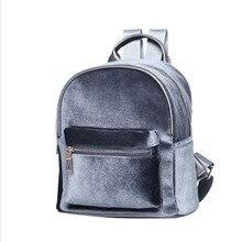 Automne hiver de mode de velours petit femmes sac à dos pour adolescents filles sacs d'école en peluche féminin sacs à dos mochila feminina
