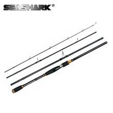 SEASHARK Spinning Fishing Rod Casting Rod 4 Sections 2.1M 2.4M 2.7M 3.0M Carbon Rod for Carp Fishing