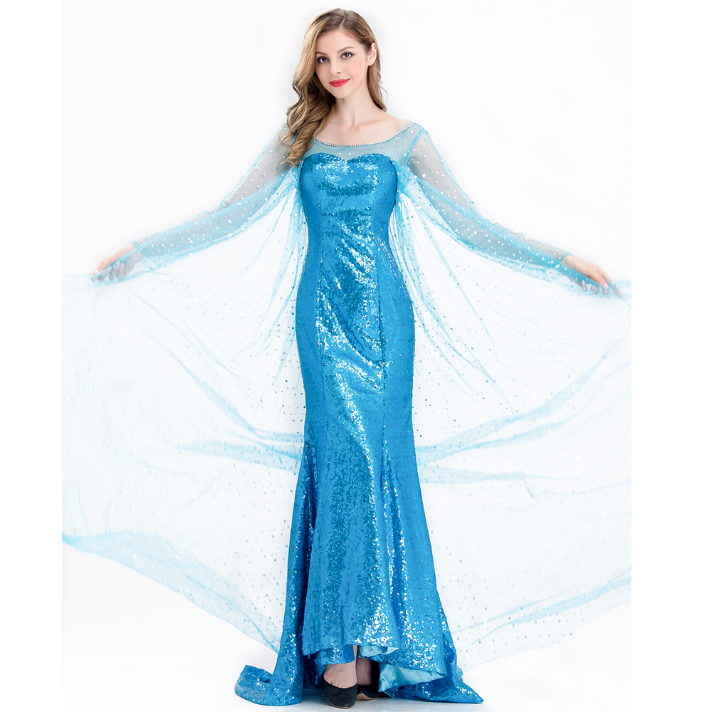 Girls Disney Frozen Dress Elsa Princess Queen Theme Cosplay Costume Size 1-12